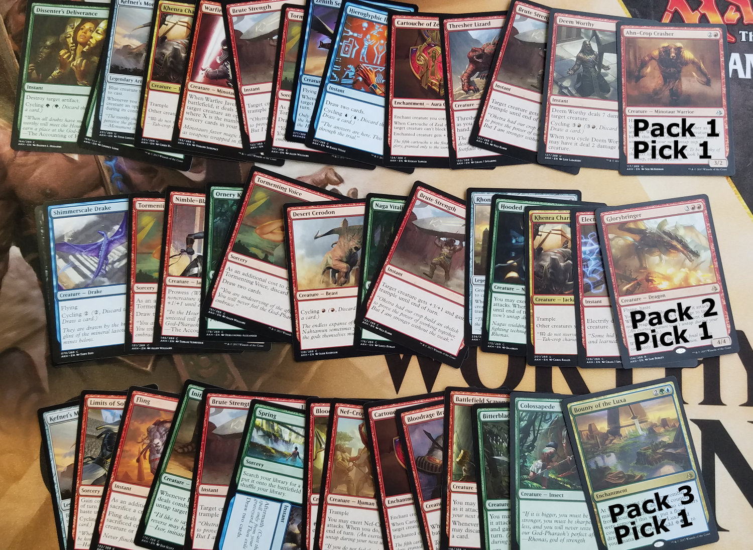 Amonkhet RG Beats (5-22-2017) Pick Order