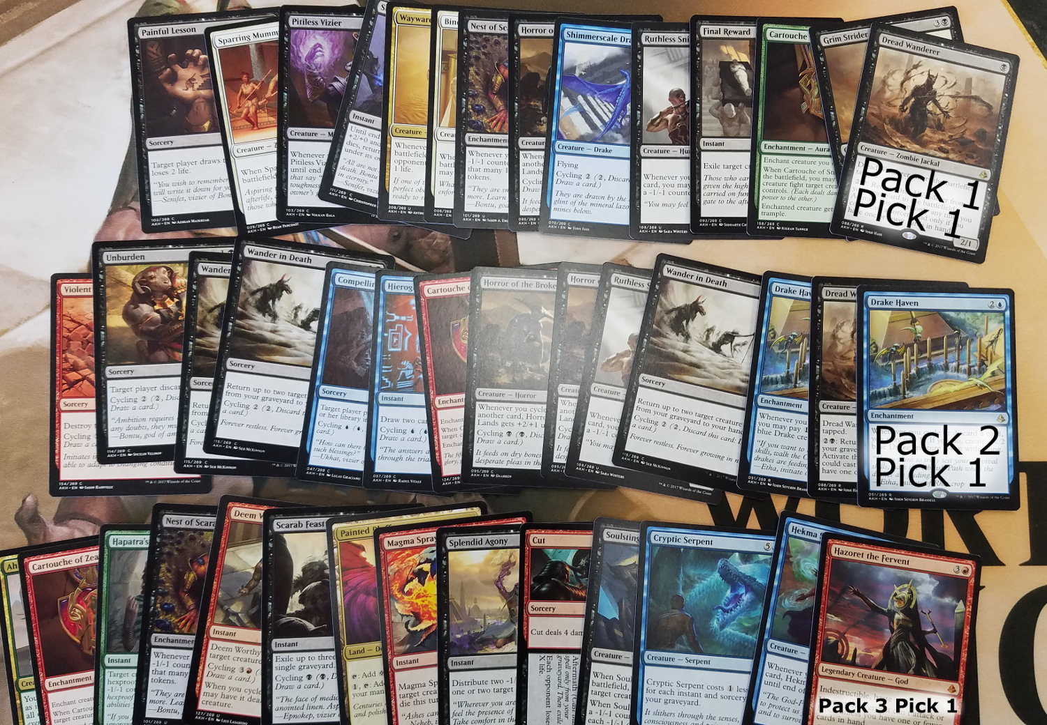 6-2-2017 Amonkhet Draft Pick Order