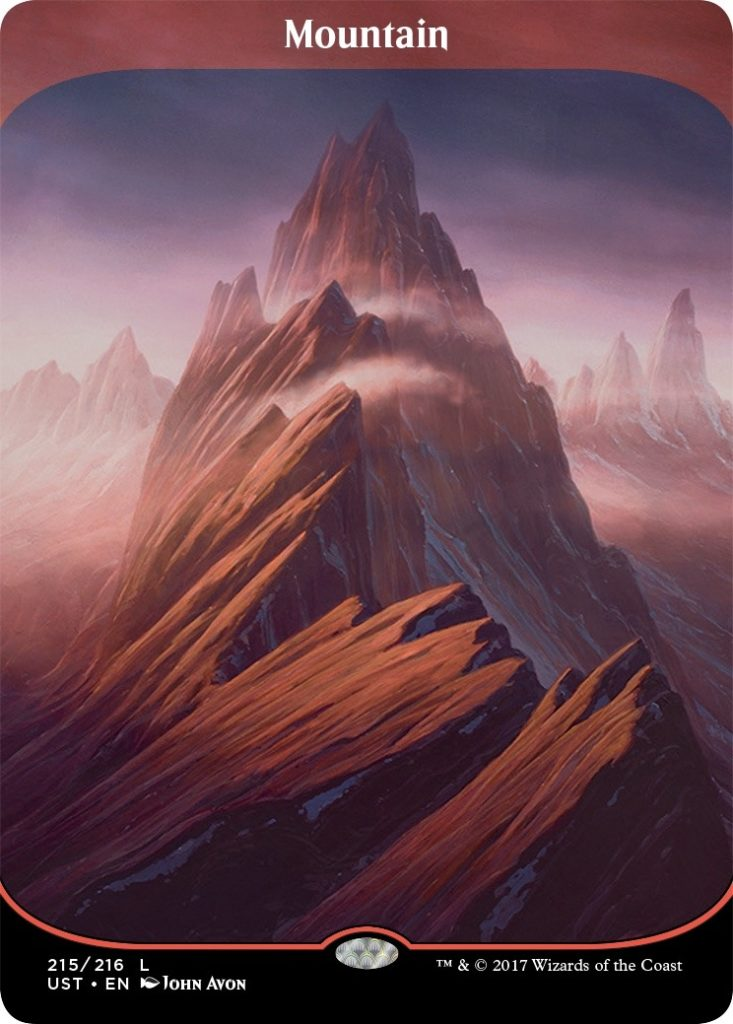 UN3 Full Art Borderless Mountain by John Avon