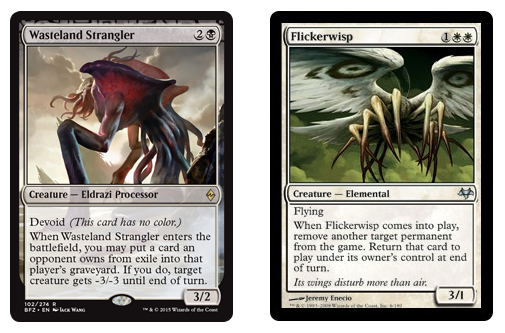 Eldrazi Displacer & Flickerwisp