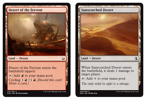 Desert of the Fervent + Sunscorched Desert